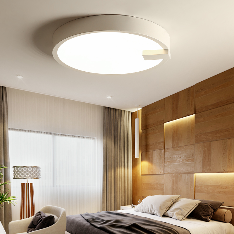 Ceiling Lights for Living room Bedroom Simple White/Black room light RC dimming Ceiling Lamp with remote control Round kids lamp noosion modern led ceiling lamp for bedroom room black and white color with crystal plafon techo iluminacion lustre de plafond