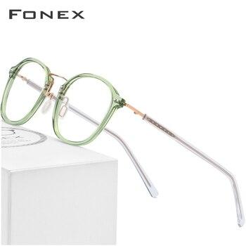 27cea1629b Montura de gafas ópticas de acetato para mujer gafas cuadradas de  prescripción de memoria 2019 hombres gafas transparentes de miopía