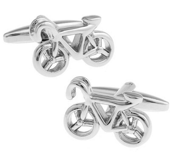 Free Shipping Mens Novelty Cuff Links Brass Material Fashion Bike Design Business Suit Accessaries