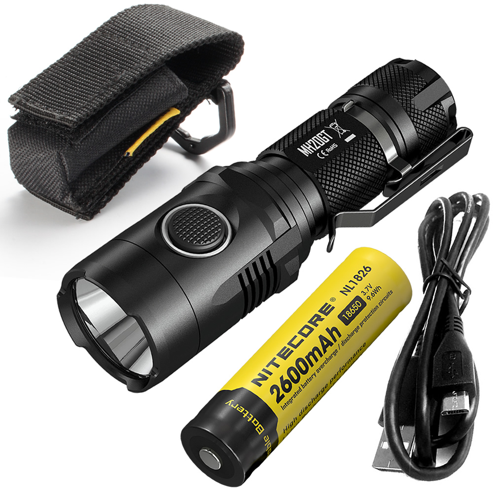 ~SALE~ NITECORE MH20GT BOXSET 1000 lumen LED Lamp Torch Waterproof Flashlight USB Rechargeable18650 Li-ion Battery Free Shipping free shipping black led torch lighter life waterproof design with battery charger 18650 rechargeable li ion battery