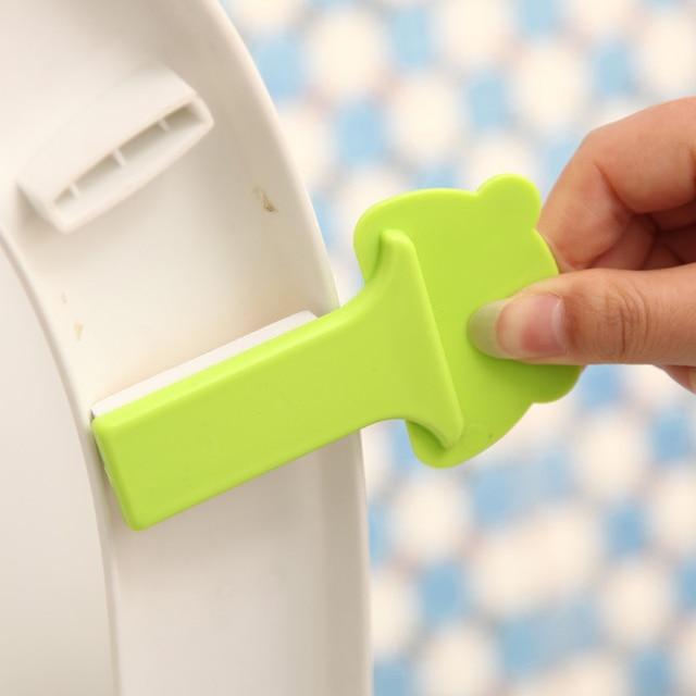 1 pz Coperchio del Wc Maniglia del Dispositivo Uso Domestico Prodotti per il Bagno Del Fumetto Anello Vasino Maniglia Igienica Copertura Dispositivo di Sollevamento Accessori Da Bagno