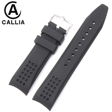 22MM Quality Black Silicone Rubber Strap For Casio Watch Band Mens Waterproof Rubber Divers Strap