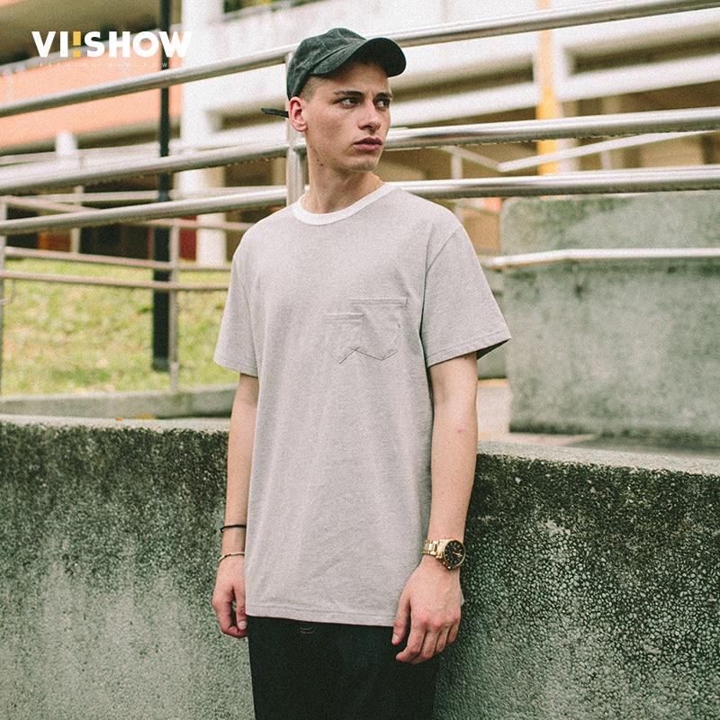 VIISHOW Summer new T-Shirt Men O-Neck Collar Leisure Short Sleeves gray T shirt Male Cotton T-shirts tops MEN Clothes TD1618172