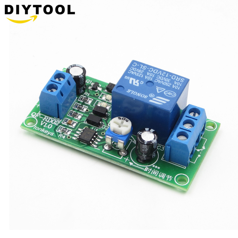 Ne555 Time Delay Relay Dc 12v Conduction Trigger Timing