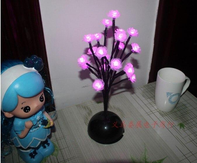9Pig высота пластик дерево розовый цветок розы прикроватный светильник ночник балкон терраса Рождество Свадьба лужайка Сад светящийся