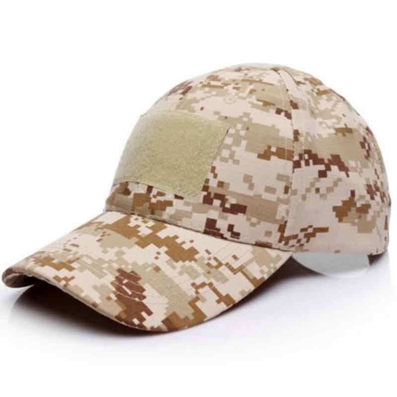 Kamuflaż taktyczna czapka z daszkiem Snapback Patch taktyczna wojskowa Unisex Desert Camo czapki dla mężczyzn kobieta #137