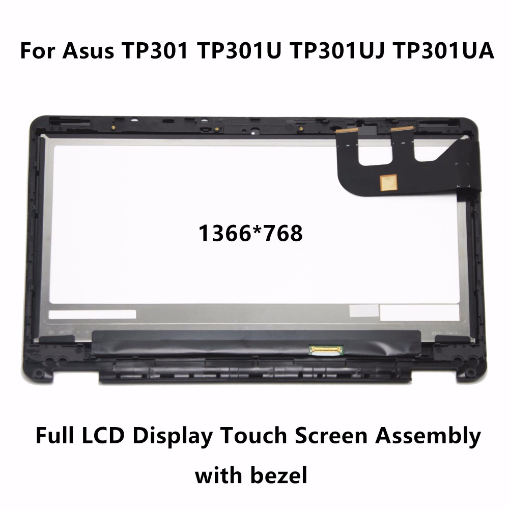13.3Full LCD Screen Touch Digitizer Display Assembly +Bezel For Asus TP301 TP301U TP301UJ TP301UA TP301UA-C4018T TP301UJ-C4011T 11 6 full lcd display touch screen digitizer with frame bezel assembly for samsung xe700t1c black colors