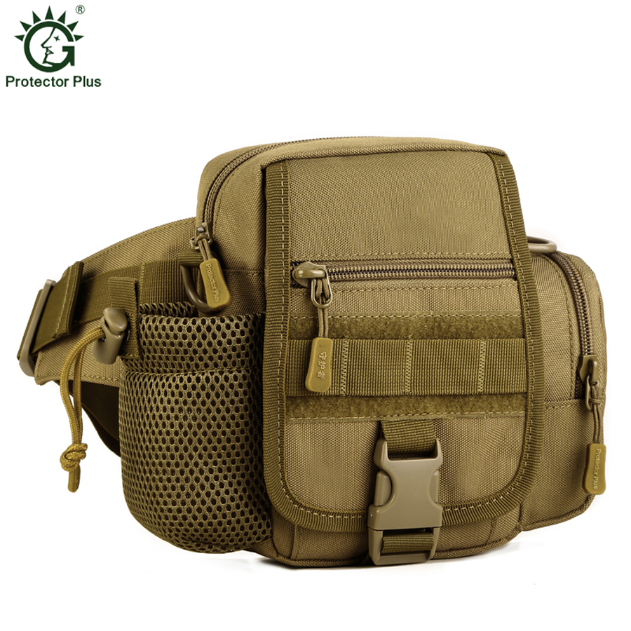 Pelindung Plus 2017 Hot Sale High Quality Nylon Waist Pack Belt Bag Men Tentera Bahu Beg Camouflage Waist Bags