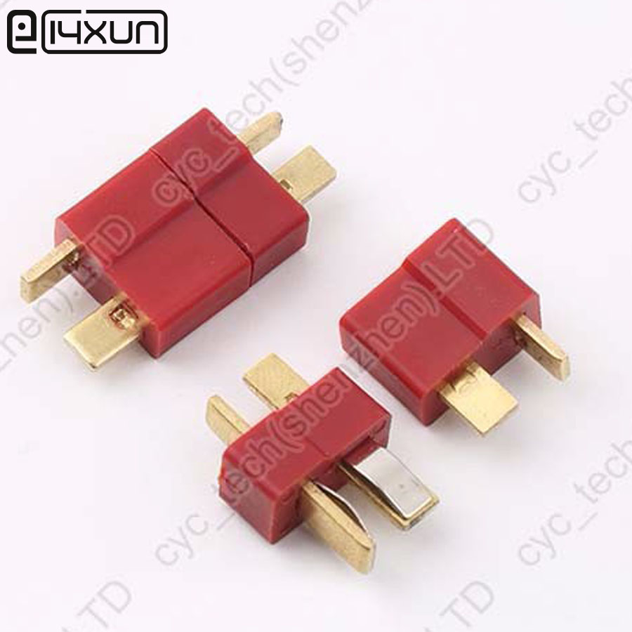 50pairs Good Quality Large Current Plug Connector Male+Female RC ESC Battery Helicopter T plug for Airplane Car Boat-in Connectors from Lights & Lighting
