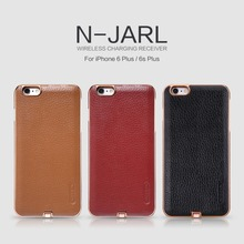 Original Nillkin N-Jarl Wireless Charging Receiver  Leather Back Cover Cases for iPhone 6 6S / 6 6S Plus with Retail Package