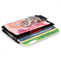 Aelicy Metal Wallet Mini Money Clip Brand Credit Card ID Holder With RFID Anti-chief Wallet 2019 New Design Solid Male Wallet L 3