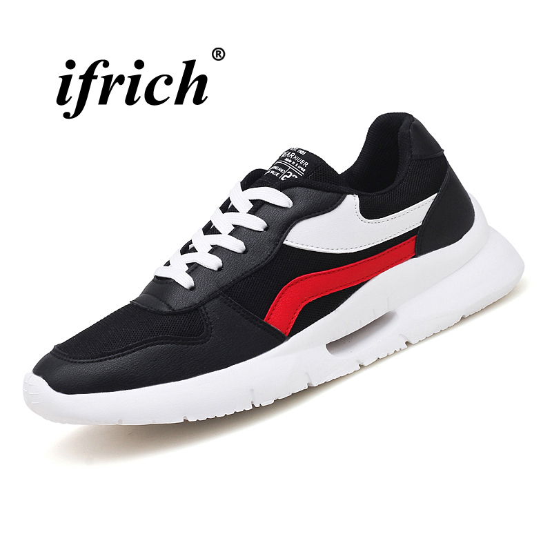 Tracking Shoes Black White Man Sneakers for Sport Anti-slip Athletic Footwear Male Lace Up Rubber Bottom Man Running Shoes