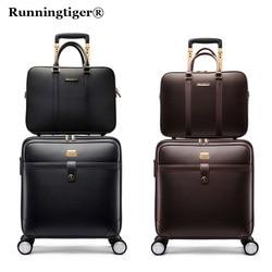 Luxury Suitcase Set Men Women 's Travel Luggage Waterproof PVC leather Box Wheel 162024 inch Rolling Trolley case travel bags