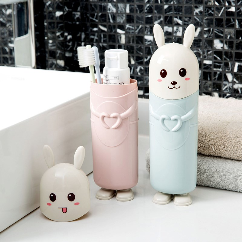 Container Travel Toothbrush Case Toothpaste Holder Lovely Rabbit Storage Box