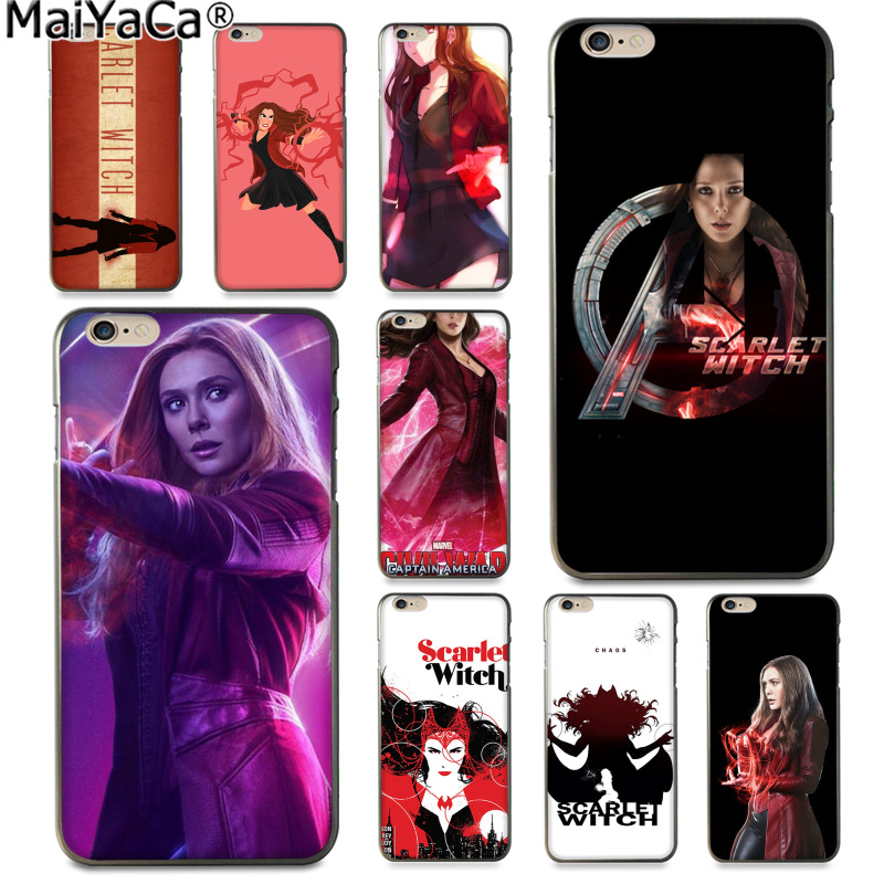 MaiYaCa Scarlet Witch Avengers x-men Fashion Pattern phone Case Cover for Apple iPhone 8 7 6 6S Plus X 5 5S SE XS XR XS MAX feature phone