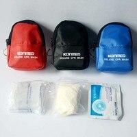 CPR Маска щит с манипуляция цепи и перчатки для первой помощи с перчатками, 100 пакетов