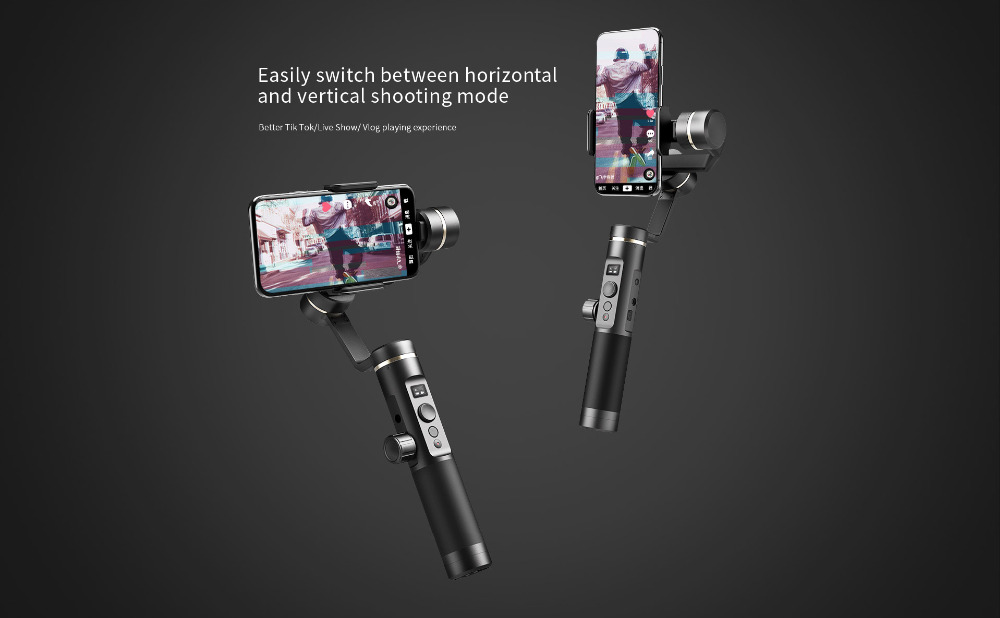 FeiyuTech Feiyu SPG2 3-Axis Handheld Stabilizer Gimbal with Follow Focus for Smartphone iphone X 8 7 OPPO Samsung Note 8 ViVO 5
