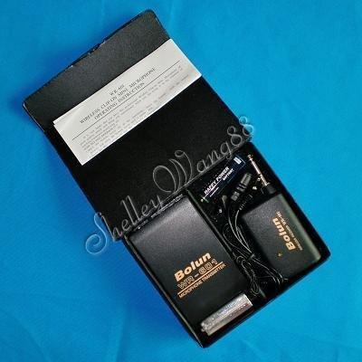 Wireless Cordless Transmiter+Receiver+Clip on MIC+Box Whosale/retail