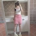 Мода Sexy Harujuku Летом Старинные Торт Печати Растениеводство Топ Без Рукавов Короткие Мода Черный Белый Танк Регата Feminina