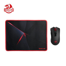 Redragon M652-BA Wireless Gaming Mouse & Mouse Pad Combo 2.4G Wireless Optical Mice with USB Receiver 2400 DPI & Mouse Pad Set