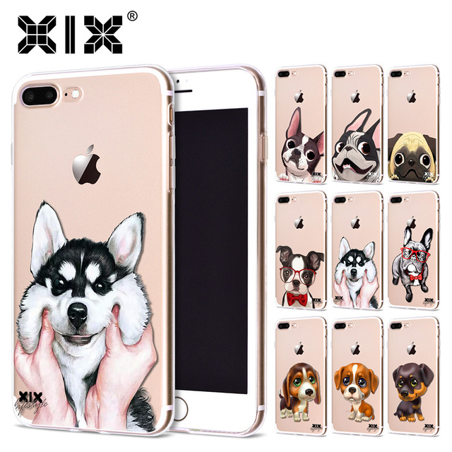 XIX for Funda iPhone X Case 5 5S 6 6S 7 8 Plus X XS Max XR Cute Dogs for Cover iPhone 7 Case Soft TPU for Capa iPhone 8 Case