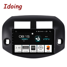 Idoing 10,2 «4 г + 64 г 2.5D ips Octa Core 1 Din автомобильный Радио Android 8,0 мультимедийный плеер подходит Toyota RAV 4 2007-2011 gps навигация 3g