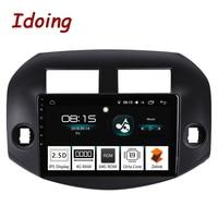 Idoing 10,2 4G + 64G 2.5D ips Восьмиядерный 1 Din автомобильный Радио Android 8,0 мультимедийный плеер подходит для Toyota RAV 4 2007 2011 gps навигация 3g
