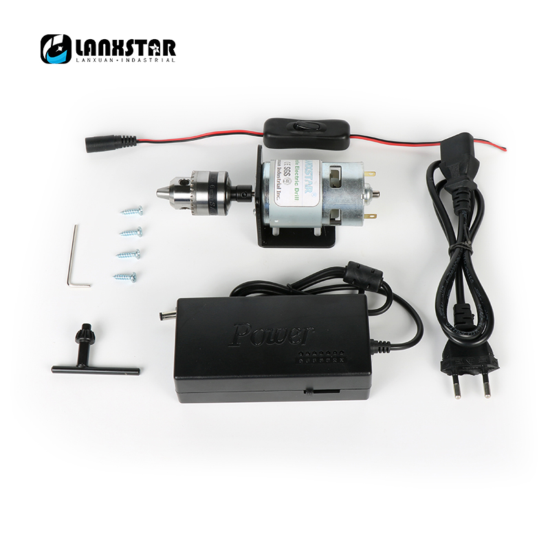 New 24V Switching Power 775 Motor Micro Drill B10 Chuck Steel Sleeve High Torque 120W Hand Drillset Engraving Press PCB Drill ct