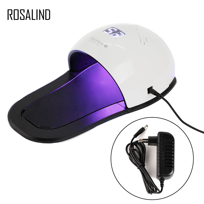 ROSALIND UV LED Lamp 48W Nail Dryer with 30s/60s/99s Timer Button For Gel Varnish Salon Manicure Nail Art Cured Tool kit blueness 48w uv led nail lamp 36 leds nail dryer for curing uv gel varnish with 10s 30s 60s 99s button lamp nails art tools