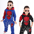 Spiderman Child Costume Sports Suit 2 Pieces Set Tracksuits 2-7yrs Boys Clothing Sets Coat+Pant New 2017 Children Clothing Sets