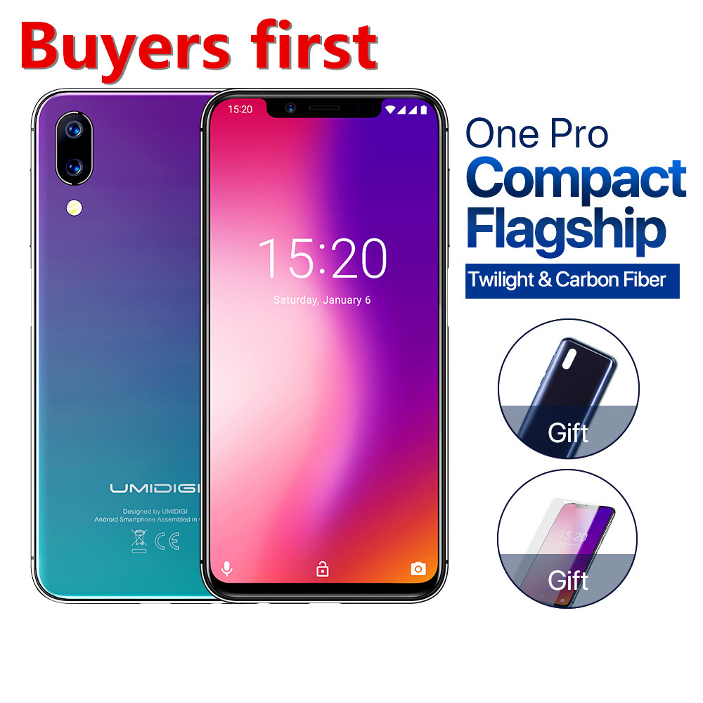 """2018 UMIDIGI ONE PRO 19:9 5.9""""FHD mobile phone 4GB+64GB Android 8.1 Helio P23 Octa Core 12MP 4G NFC Wireless Charging smartphone"""