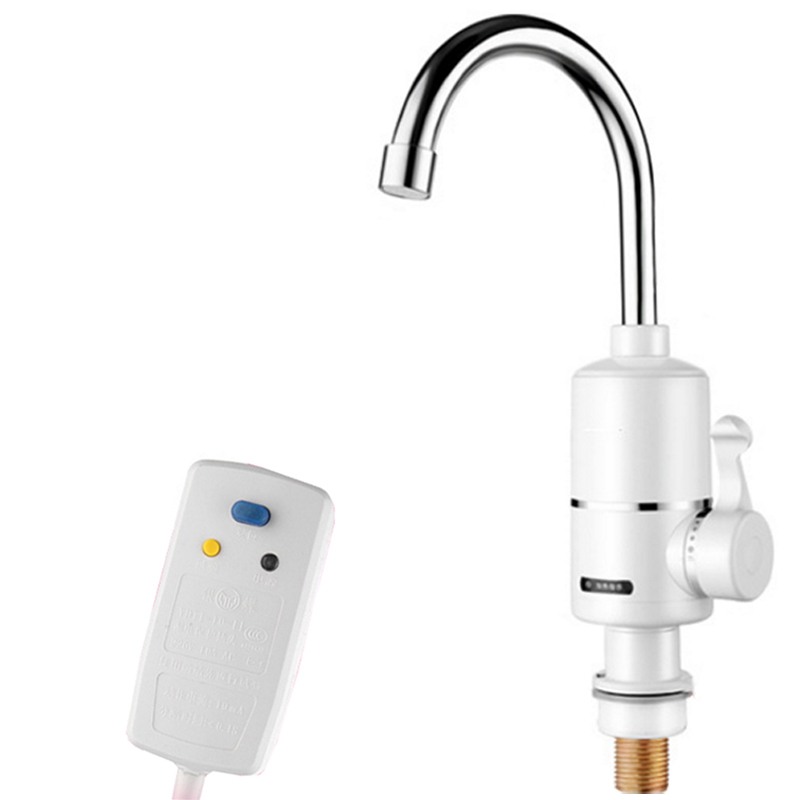 Electric Instant Hot Water Heater Water Faucet Tap Fast Heater Sink Tankless Kitchen Shower Water Heater Tap Heating Flow