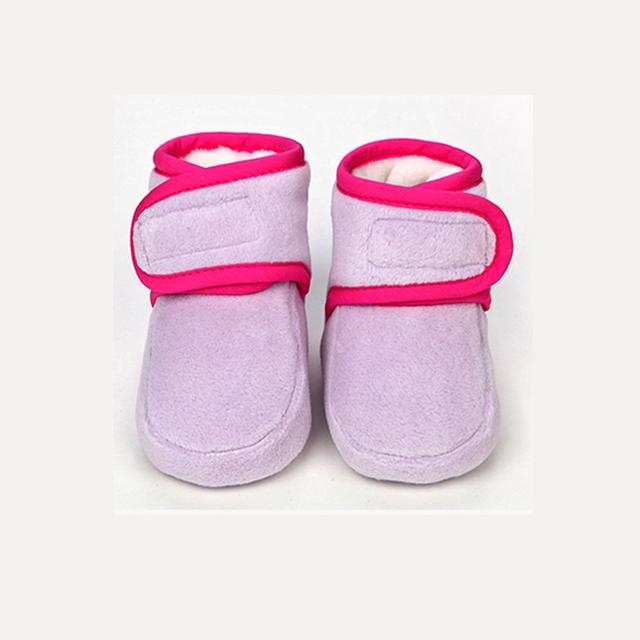 0-12 meses primeros caminante primavera zapatos de suela suave de algodón acolchado zapatos FW-006