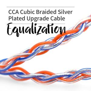 Image 4 - CCA C2 MMCX 2PIN turuncu mavi örgülü gümüş kablo 8 çekirdekli yükseltilmiş kaplama kablo kulaklık CCA C10 CA4 AS16 zsn pro ZS10 Pro