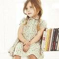 Девушки Принцесса Платья Случайные Дети Одежда Мода Лето Цветочные Зеленое Платье Для Девочки Дети Ребенок Милый Одежду