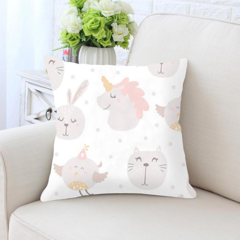 Us 4 04 19 Off Cute Kawaii Pillow Unicorn Rabbit Nursery Decor Cushion Without Insert Pink S Room Kids Bedroom Decoration For Birthday Gift In