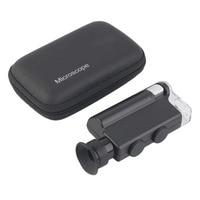 ACEHE Mini xách tay Microscope Pocket 200X ~ 240X Cầm Tay Đèn LED Ánh Sáng Loupe Zoom Magnifier Magnifying Glass Pocket Ống Kính