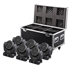 4pcs/lot With A Flight Case For 4pcs Led Beam Moving Head Light 36x3W RGBW Color With DMX DJ Sound Activated MIni Stage Lights 6pcs lot white color 132w sharpy osram 2r beam moving head dj lighting dmx 512 stage light for party