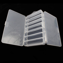 Two-sided Fishing Box Multifunctional Plastic Lure Bait Hooks Tackle multi-Compartments Transparent Visible pesca