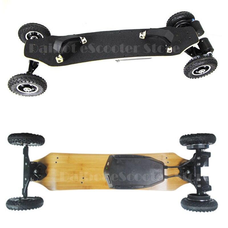4 quattro Ruote di Skateboard Elettrico Doppio Motore 1650 W * 2 Max 11000 mAh Monopattini a motore elettrico Longboard Hoverboard chiave A Distanza pneumatico