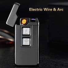 USB зарядка Тесла катушки и дуга Зажигалка USB ветрозащитный личность электронные зажигалки новинка Электрический Прикуривателя