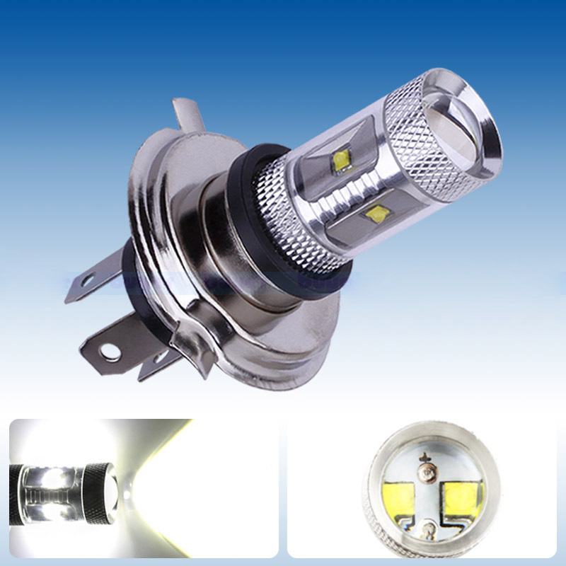 Hotest 30W Xenon H4 led Fog Lamp Car Auto High Power H4 COB LED Turn Signal Headlight Super Bright White Bulb 12V 12v led light auto headlamp h1 h3 h7 9005 9004 9007 h4 h15 car led headlight bulb 30w high single dual beam white light