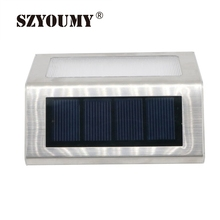 SZYOUMY Waterproof LED Solar Light Lamps 2 Leds Garden Lights Outdoor Landscape Lawn Lamp Wall