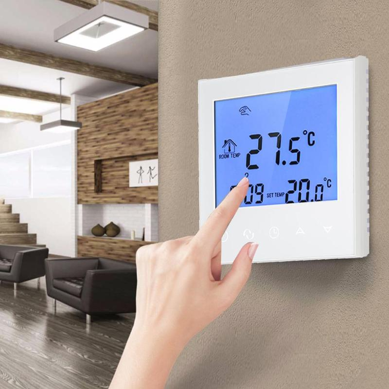 LCD Thermostat Touch Screen Digital Wireless Temperature Thermostat Room Underfloor Wifi Heating Controller Thermoregulator thp 1000gb wifi touch screen underfloor heating room thermostat digital heating thermostat