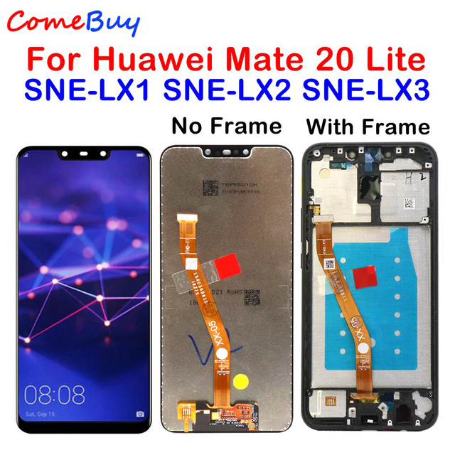 Comebuy Display For Huawei Mate 20 Lite LCD Display Touch Screen Digitizer With Frame For Huawei Mate 20 Lite SNE LX1 SNE LX3