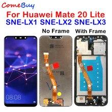 Comebuy display para huawei companheiro 20 lite display lcd digitador da tela de toque com moldura para huawei companheiro 20 lite SNE LX1 SNE LX3
