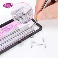 Starscolors 10D Eyelashes Natural false eyelashes Fake lashes Curl D 8-14 mm Makeup Extension thick silk lash