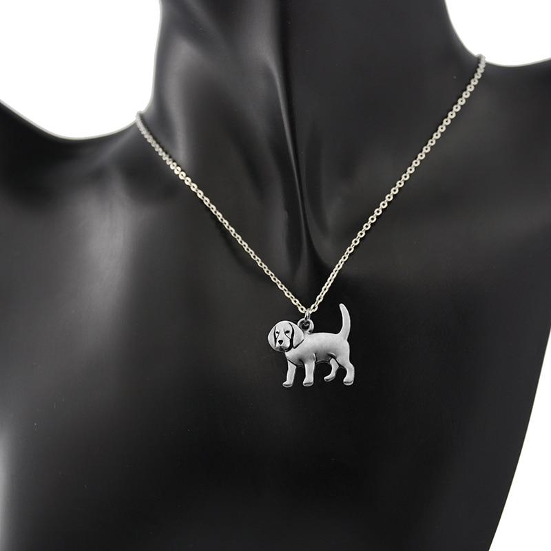 Fei Ye Paws Կանանց Վզնոց Punk Beagle & Coonhound Dog - Նորաձև զարդեր - Լուսանկար 2