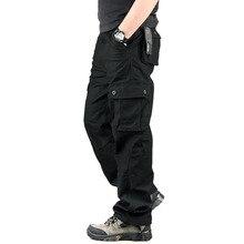 Габаритные брюки-карго военные мульти повседневные карманные открытом воздухе длинные мужские плюс