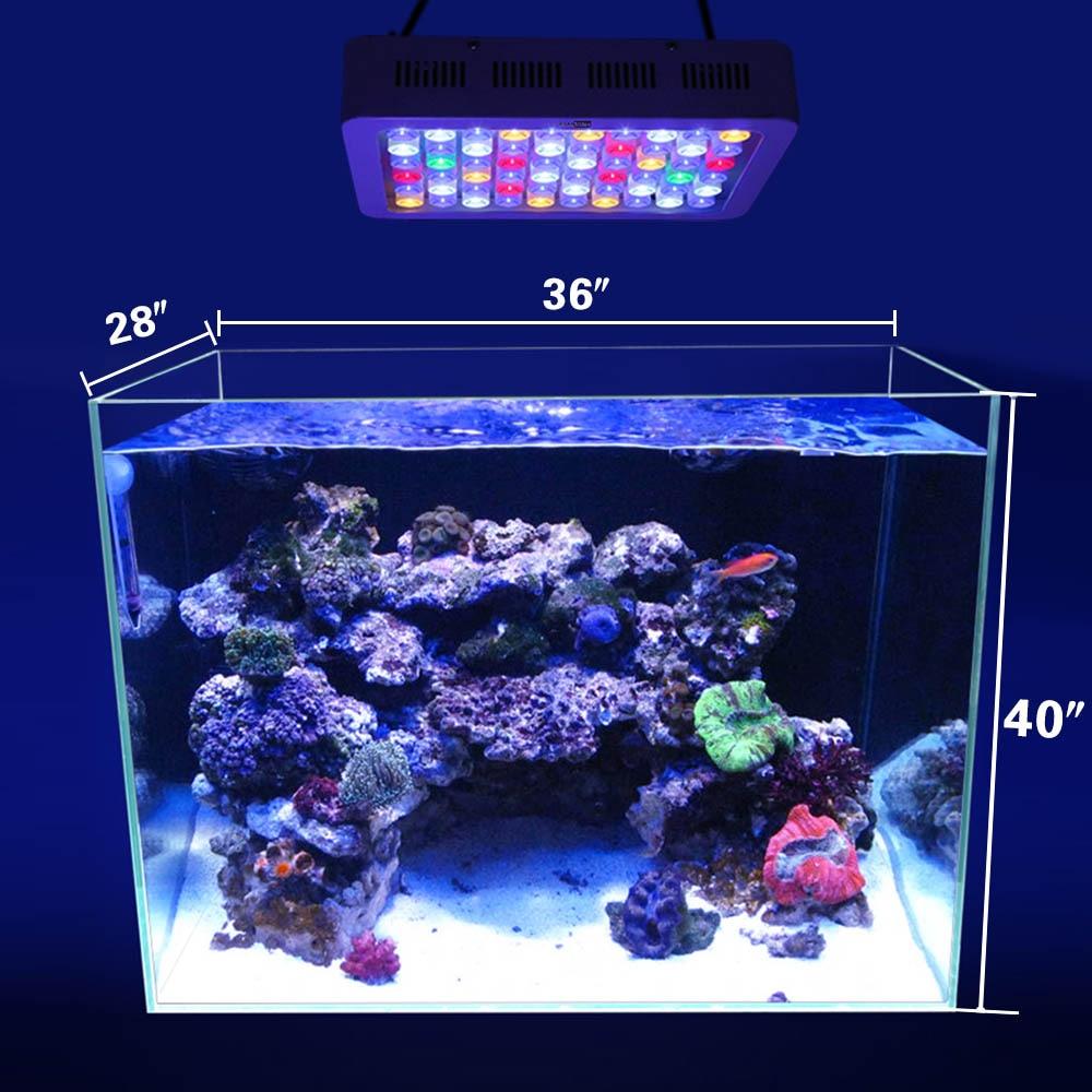 Aquarium Light 180w Dimmer Led Aquarium Light Coral lampe til marine - Pet produkter - Foto 5